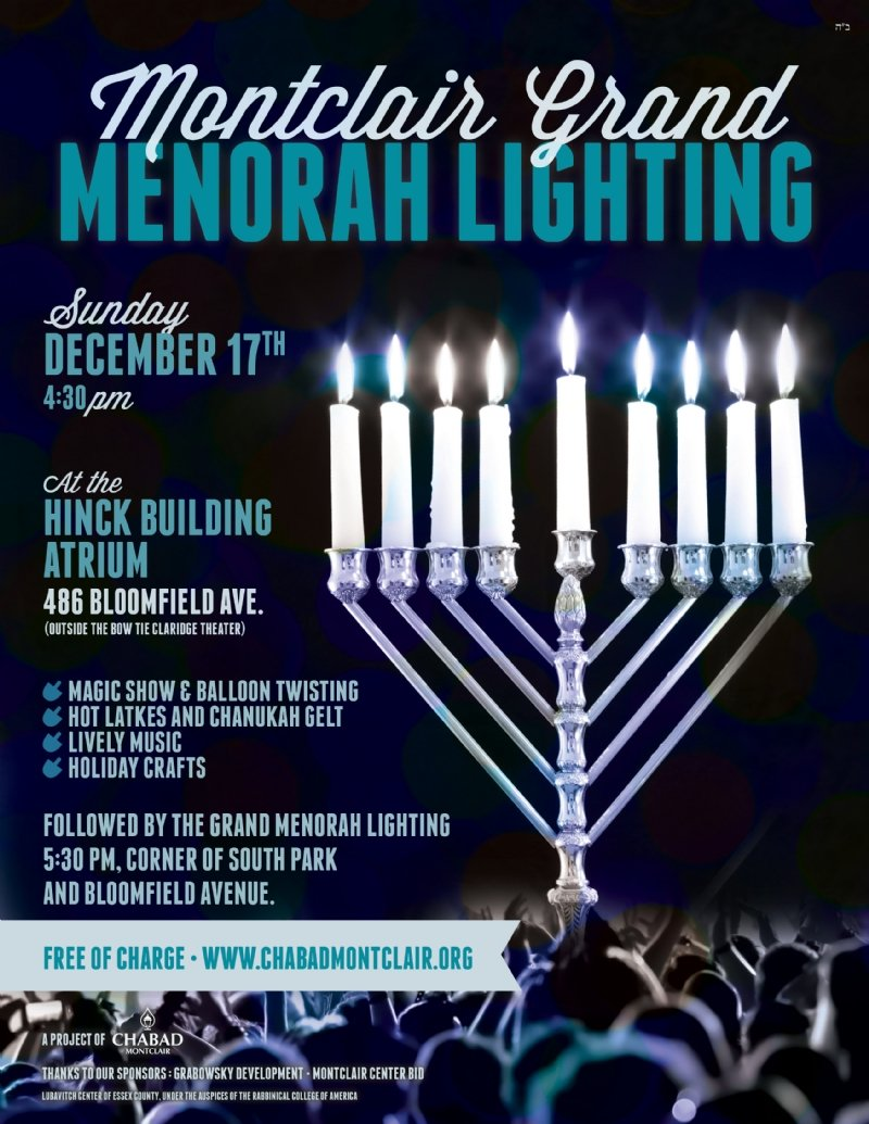 Montclair Grand Menorah Lighting 2017 - 5778 - Chabad of